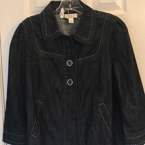 Jean Jacket/Blazer, Loft, Size 8, 3/4 Sleeves,NWOT